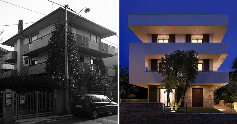 Before & After – Photos Of The Exterior Redesign Of A Building In Italy