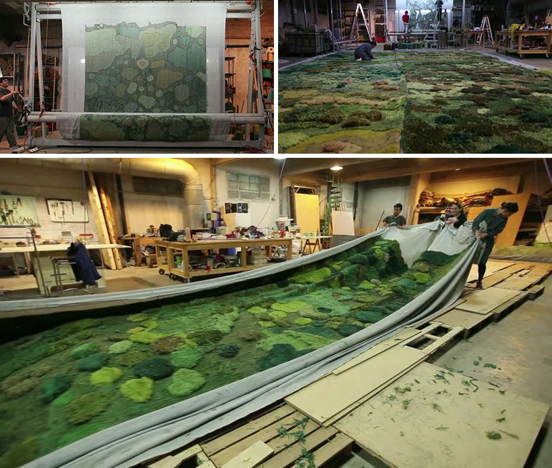 See How A 1550 Square Foot Custom Carpet Is Made