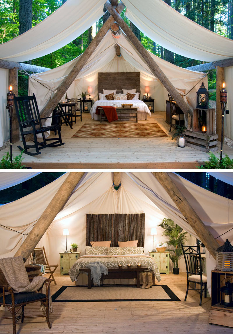 10 Glamping Destinations For People Who Want To Go Camping But Need The Luxuries Of A Hotel // Pampered Wilderness - Millersylvania State Park, Washington, USA
