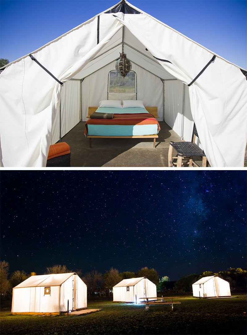 10 Glamping Destinations For People Who Want To Go Camping But Need The Luxuries Of A Hotel // El Cosmico - Marfa, Texas