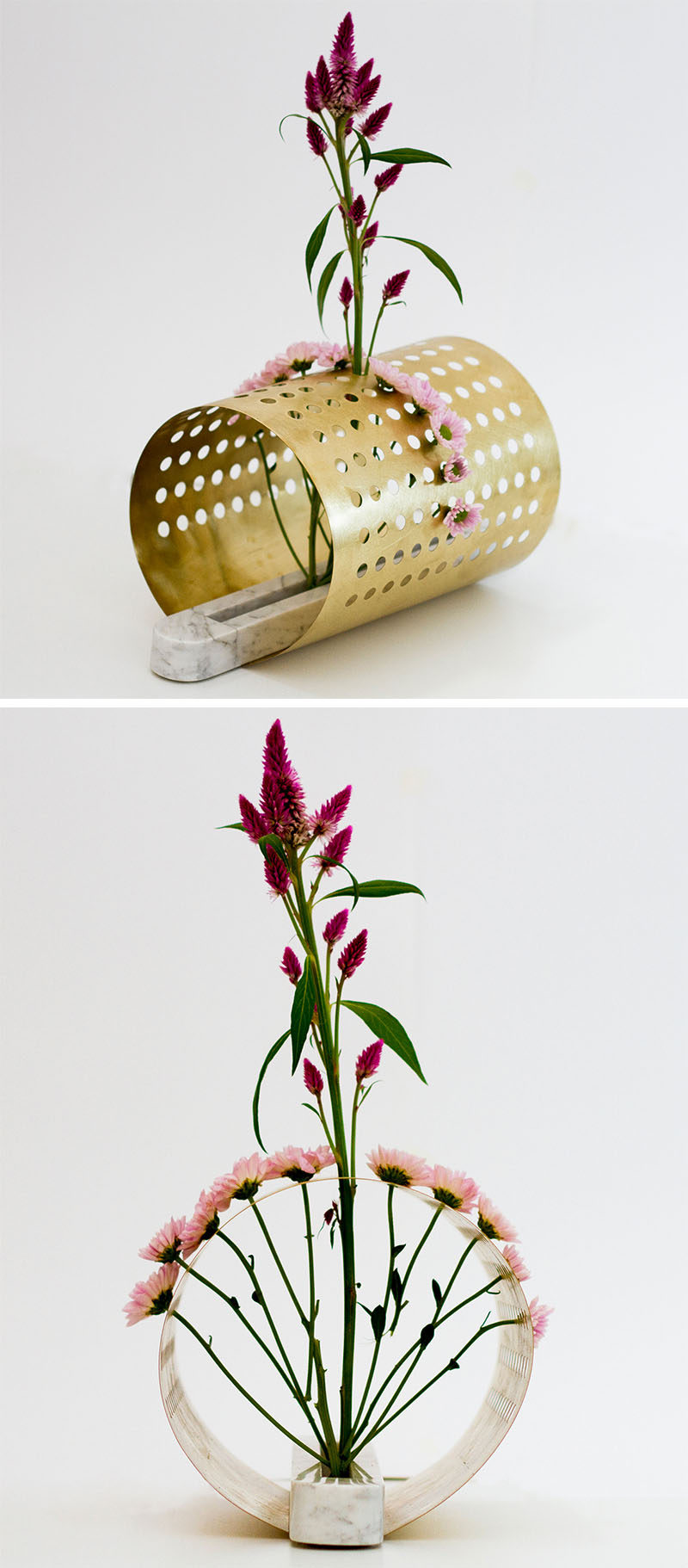 Creative Floral Designs - These vases were inspired by japanese floral arrangements