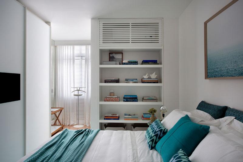 Dormitorio con aire acondicionado cubierto