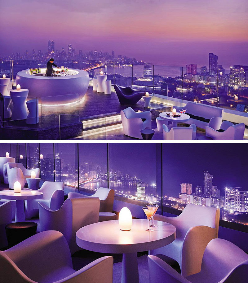 10 Incredible Hotel Rooftops From Around The World // 3. The rooftop bar on the Four Seasons hotel in Mumbai is open year round, even during their famous monsoon season.