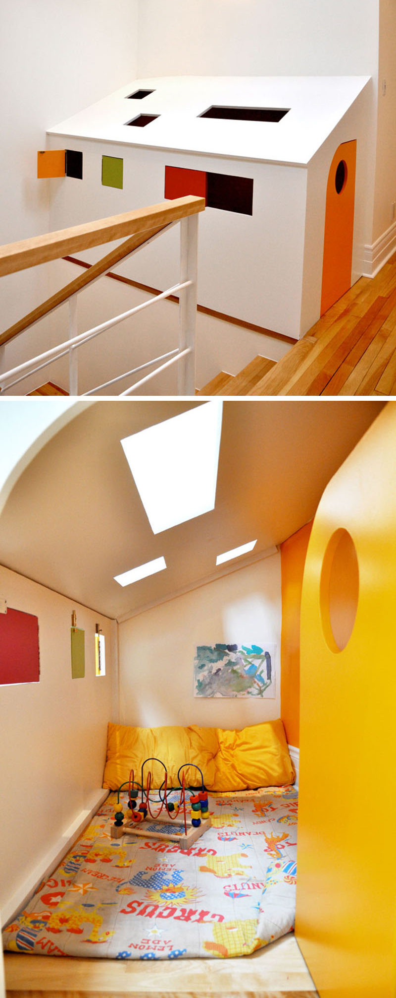 11 Kids Only Hideouts That Even The Biggest Grownups Would Be Jealous Of // A bright little home inside a home is perfect for playing, reading, or even napping.