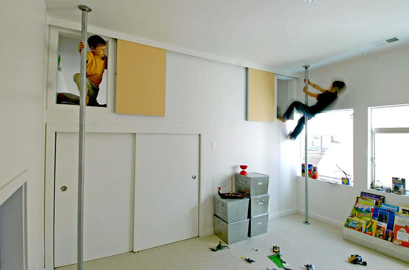 11 hideouts for kids that adults should be jealous of contemporist - The fireman pole apartment an incendiary design ...