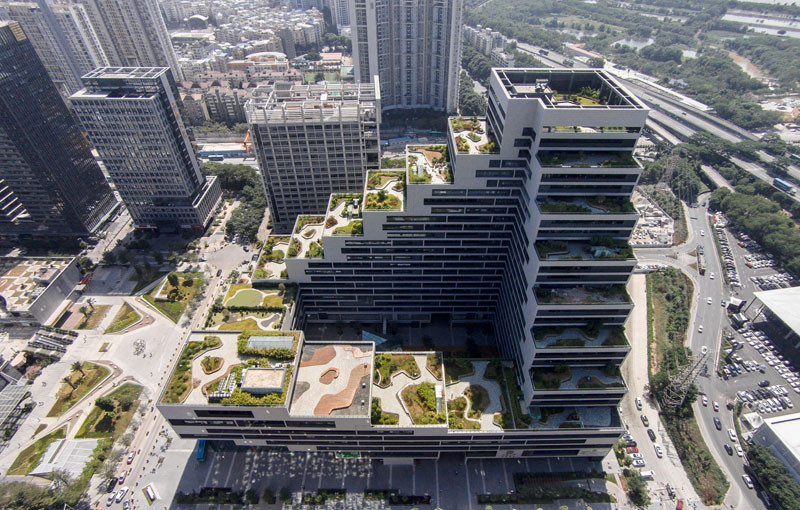 This Building Is Covered In Fully Landscaped Rooftop Terraces