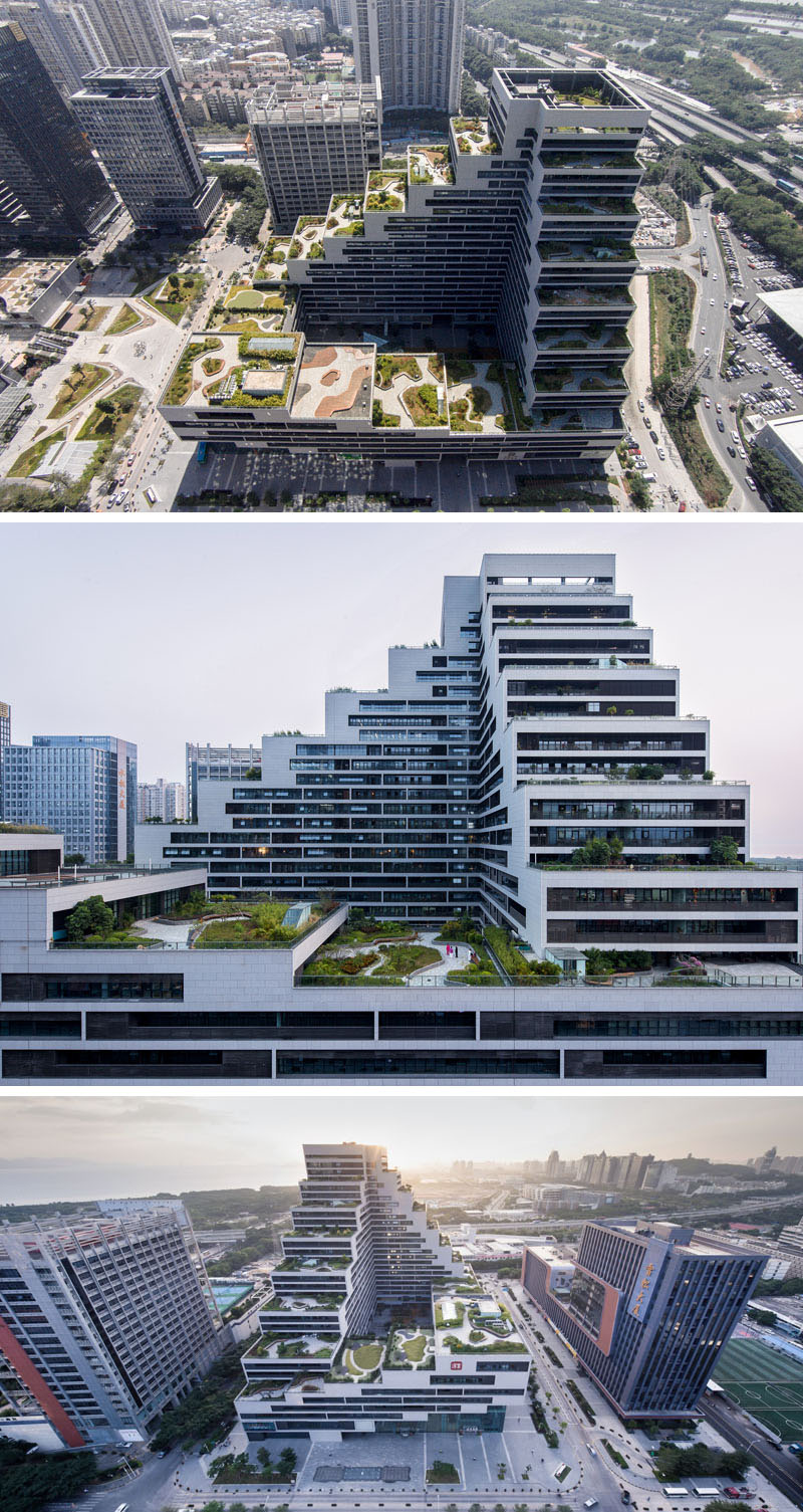 This Building Is Covered In Fully Landscaped Rooftop Patios