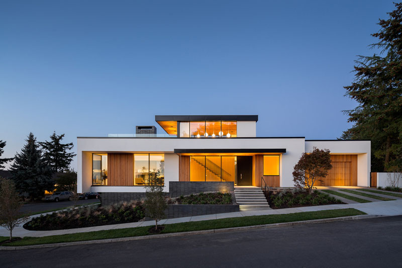 This home with multiple energy efficient solutions sits prominently in Portland