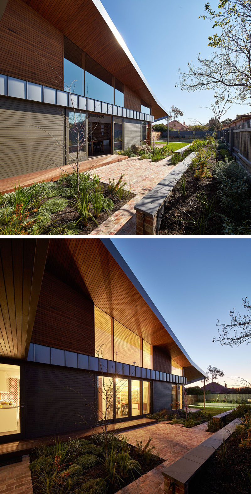 This original period home in Melbourne, Australia, was modified to include a new contemporary extension that provided the family with new living areas.