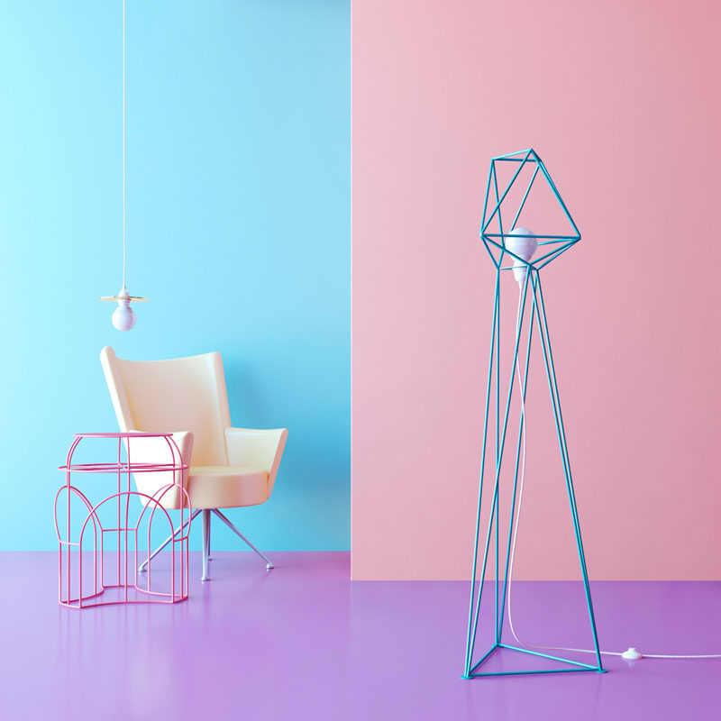 These Floor Lamps Are Perfect For Fans Of Geometric Shapes.