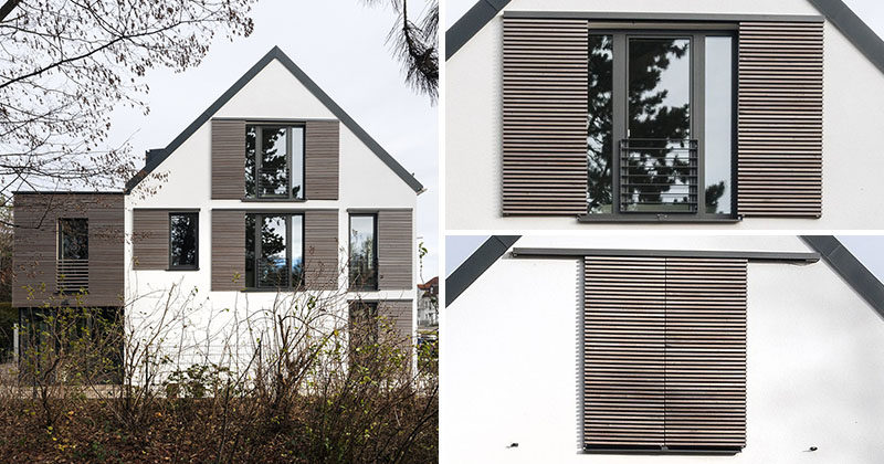 This house is an example of how to do modern window for Modern house front window design