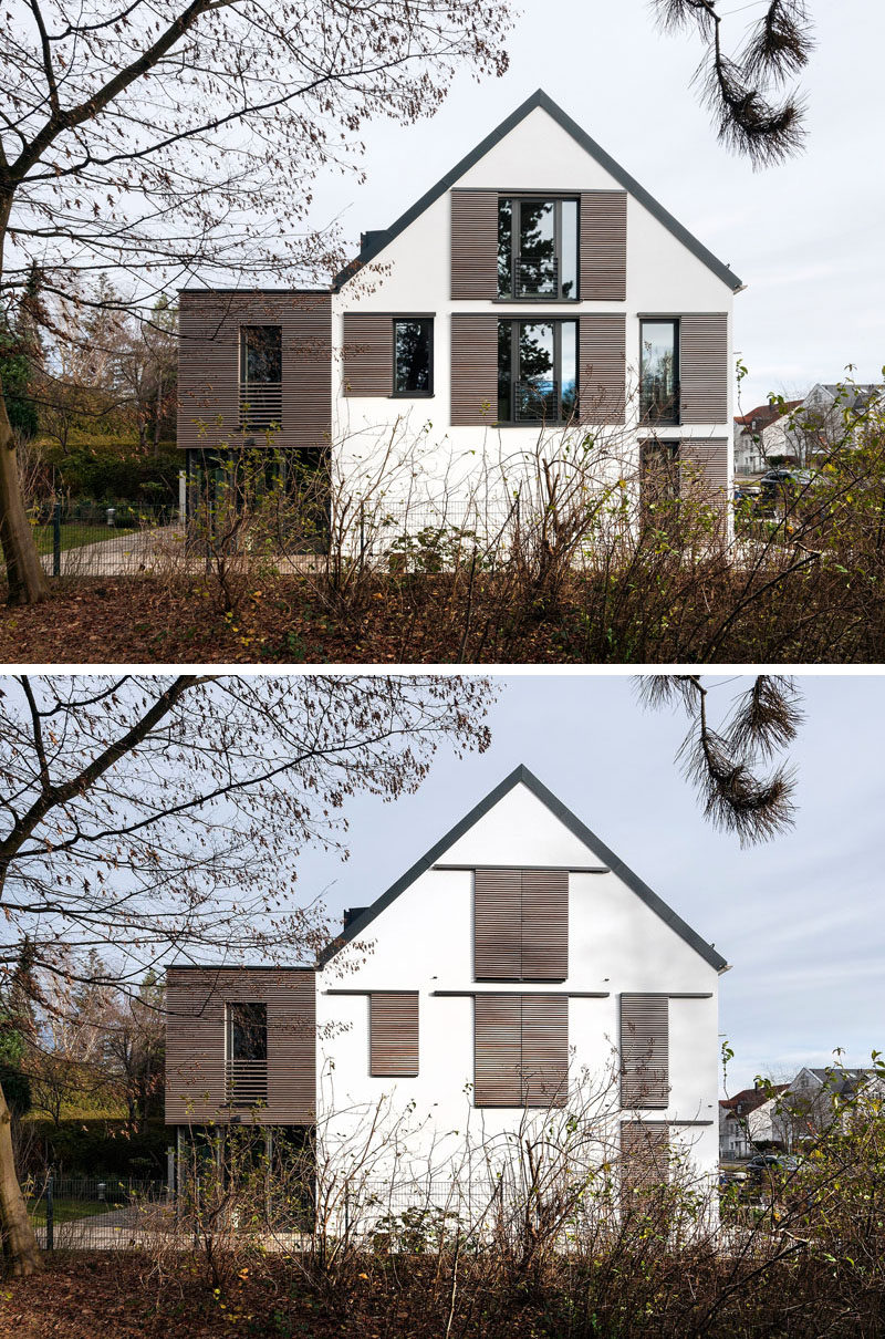 This house is an example of how to do modern window for Modern window house