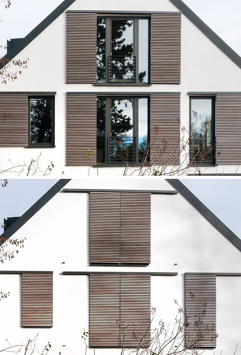Here's an example of modern window shutters.