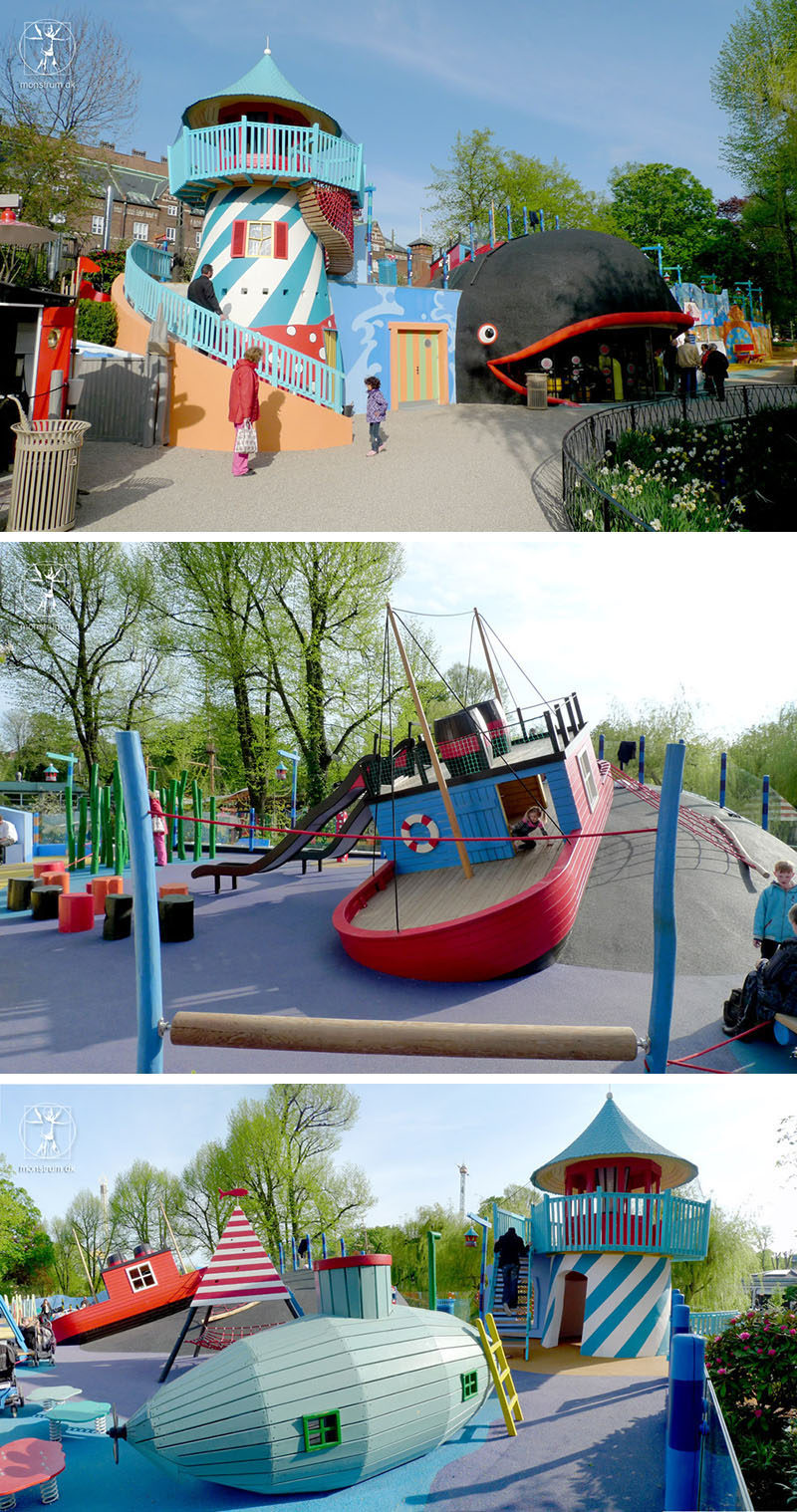 15 Amazing, Unique And Creative Playgrounds // A World Of Wonder With A Whale, Lighthouse, Submarine And Boat.