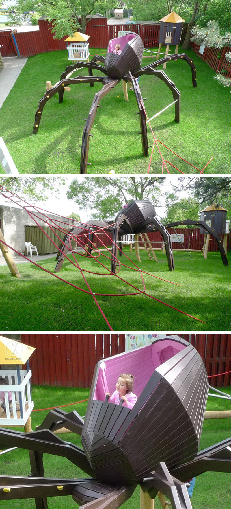 15 Amazing, Unique And Creative Playgrounds // A Huge Spider and Web