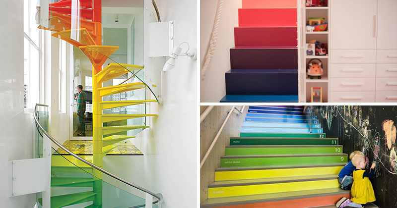 7 Inspiring Examples Of Rainbow Stairs