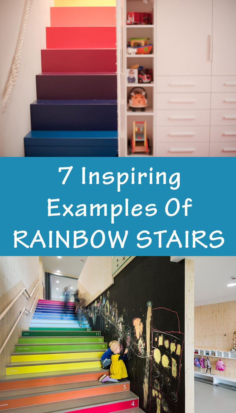 7 Inspiring Examples Of Rainbow Stairs //