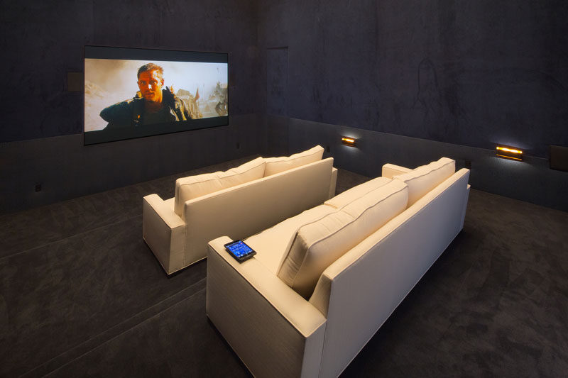 Home theater inspiration from a house in California.