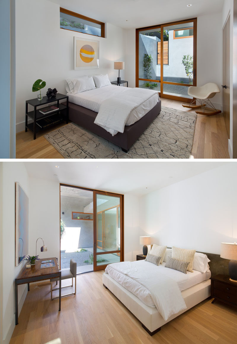 Bedroom inspiration from a home in California.