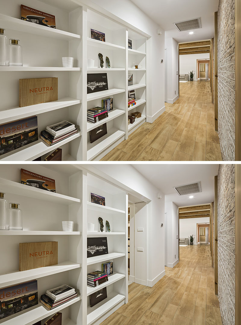 Here's an idea for a secret door, hide it within a built-in bookcase in a hallway. The hidden door leads to a bedroom.