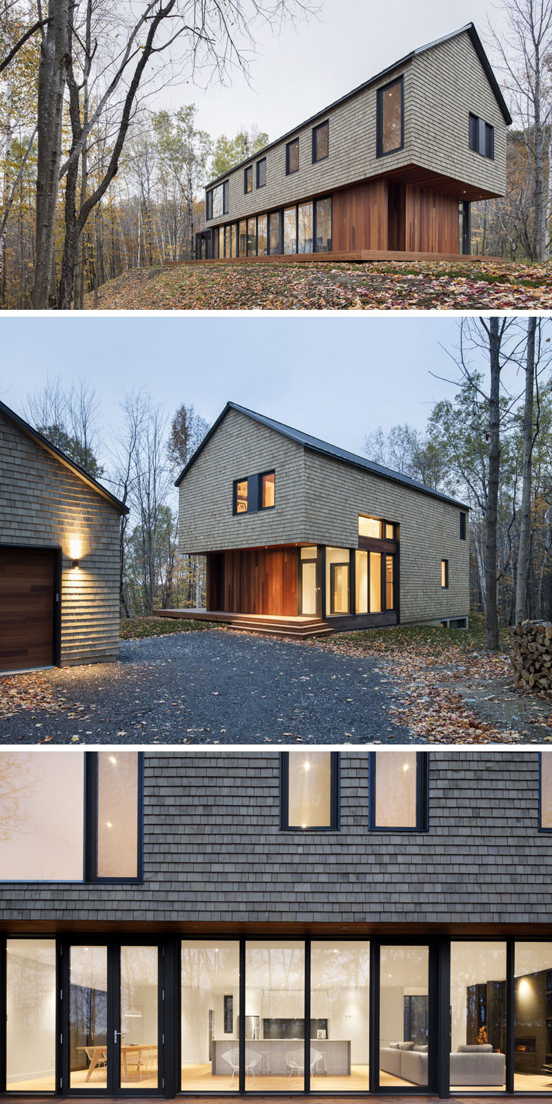 13 Examples Of Modern Houses With Wooden Shingles on Modern House Siding Ideas  id=28411