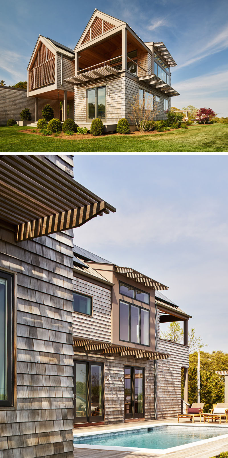 13 Examples Of Modern Houses With Wooden Shingles ... on Modern Siding  id=14508