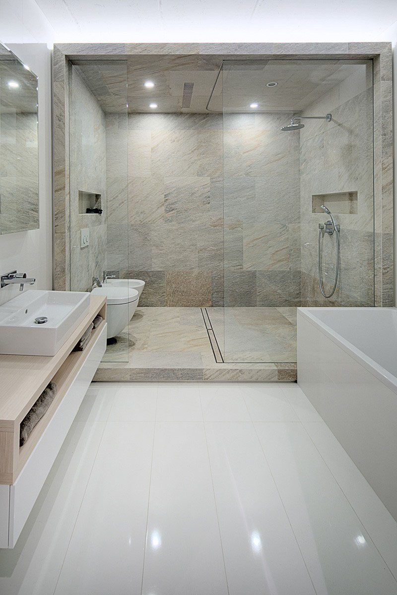 12 Ideas For Including Built-In Shelving In Your Shower //