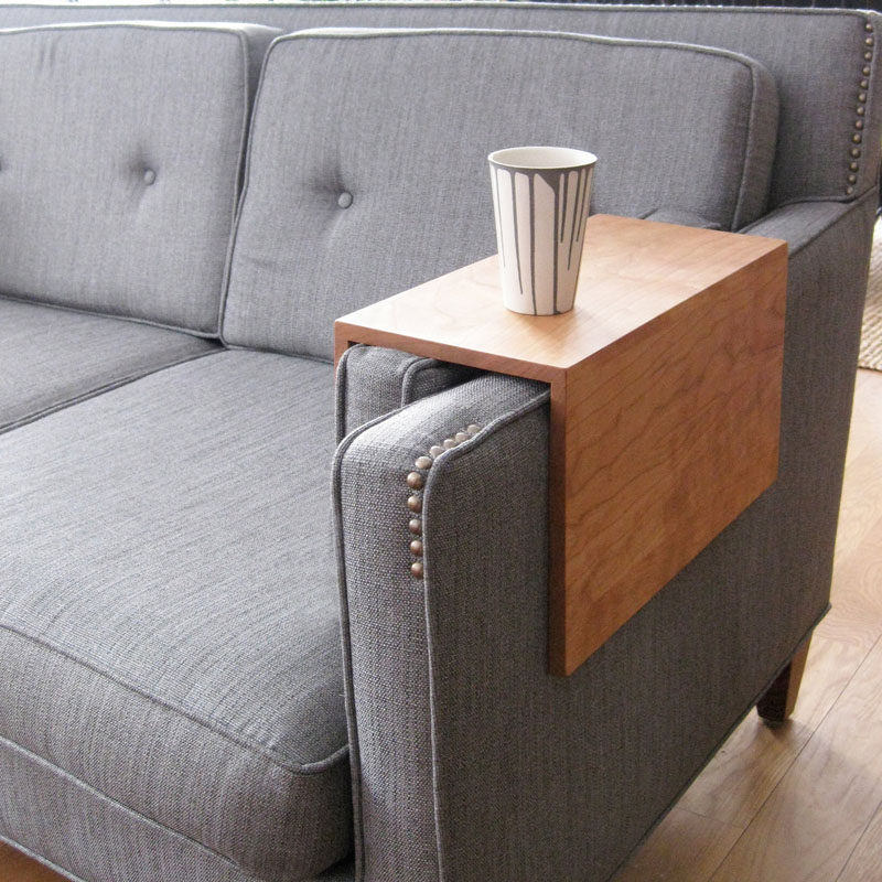 What is a couch sleeve? A couch sleeve is the solution to having to reach all the way to the coffee table to grab the TV remote, your cup of coffee, a book, or anything else that's always too far away.
