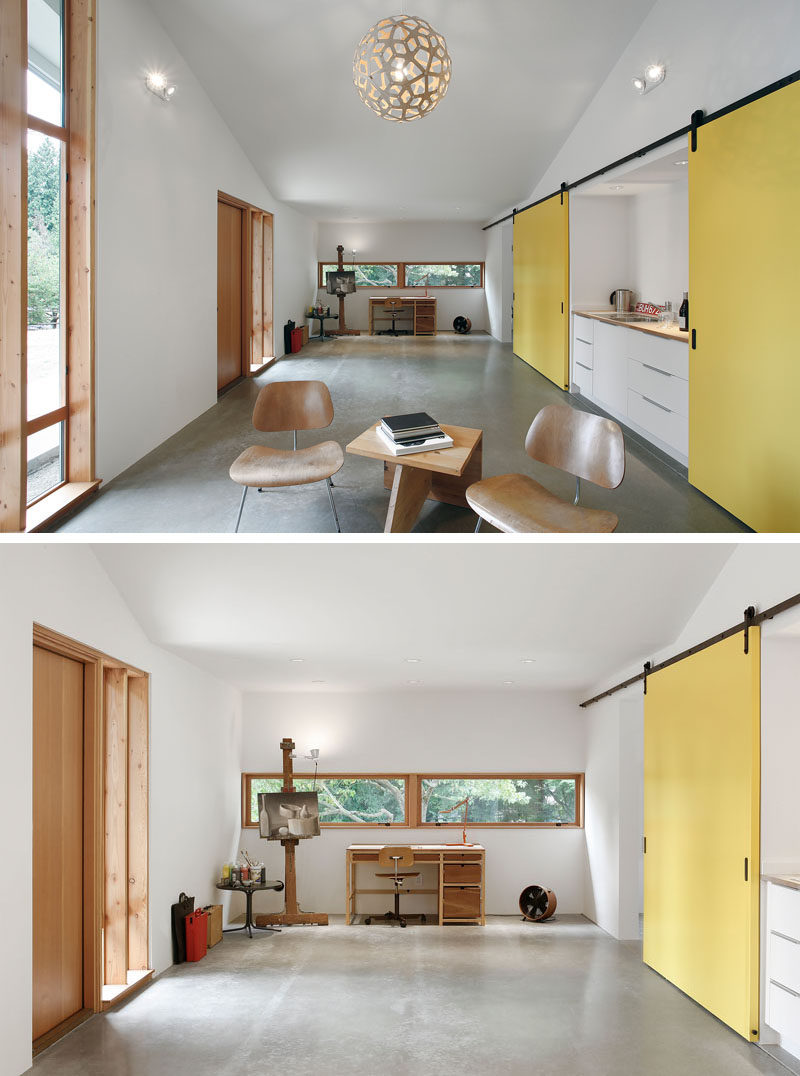 SHED Architecture & Design were given the task by their clients, a painter and digital designer, that had no horses themselves, to enclose and convert the stable into a flexible studio space for working and painting, as well as a guest space for visiting family.