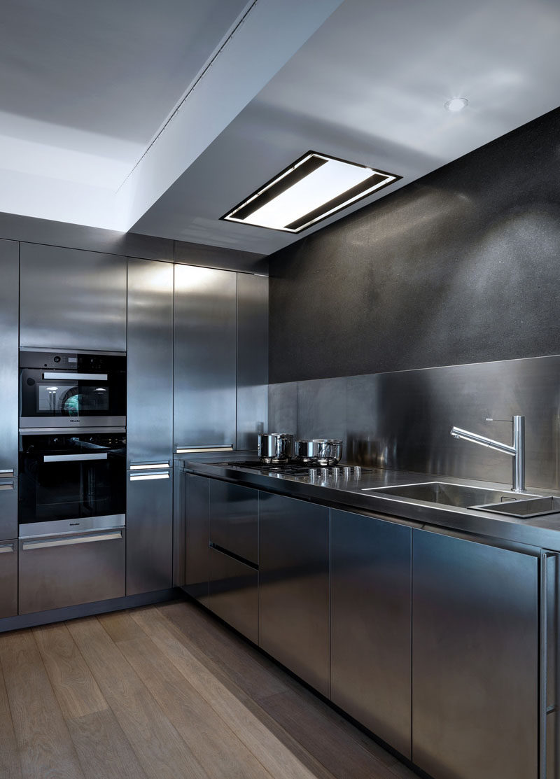 Everything About This Kitchen Is Stainless Steel ... on Modern:0Bjn4Cem9Be= Kitchen Counter  id=57195
