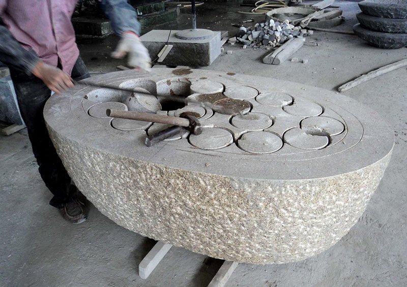 8 Stunning Examples Of Stone Bathtubs // The early stages of how a stone bathtub is made.