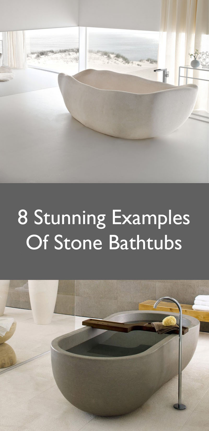 8 Stunning Examples Of Stone Bathtubs //