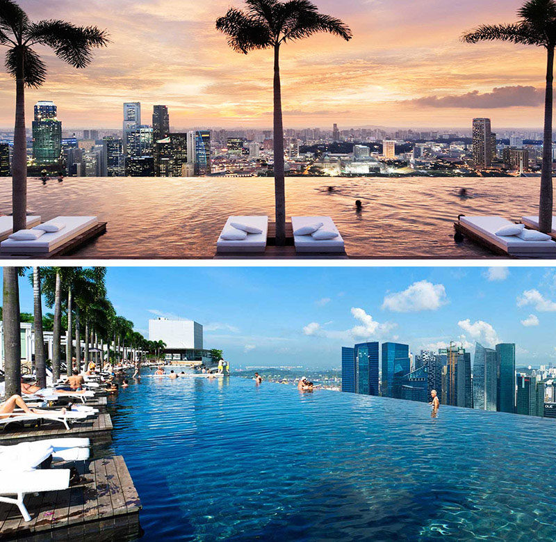 17 Tourist Activities That Would Be A Nightmare For People With A Fear Of Heights // Marina Bay Sands Hotel - Bayfront Ave, Singapore.