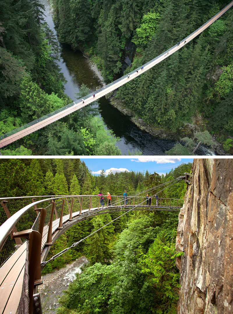 17 Tourist Activities That Would Be A Nightmare For People With A Fear Of Heights // Capilano Suspension Bridge - North Vancouver, British Columbia