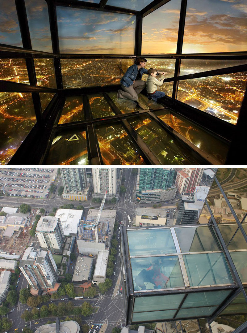 17 Tourist Activities That Would Be A Nightmare For People With A Fear Of Heights // The Edge at Eureka Sky Deck - Melbourne, Australia