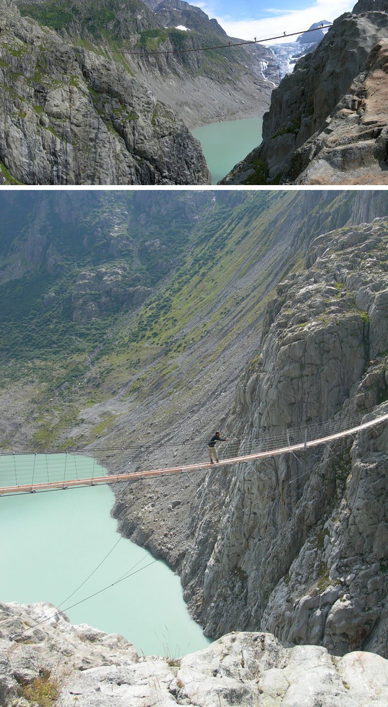 17 Tourist Activities That Would Be A Nightmare For People With A Fear Of Heights // Trift Bridge - Swiss Alps