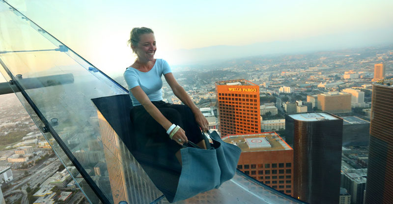 17 Tourist Activities That Would Be A Nightmare For People With A Fear Of Heights // Skyslide - Los Angeles, California