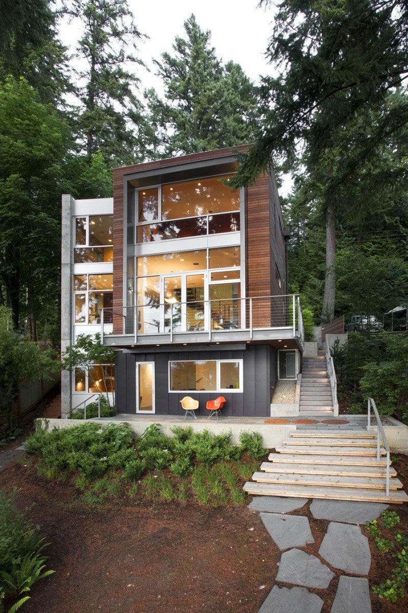 The Dorsey Residence on Bainbridge Island in Washington State, designed by Coates Design.