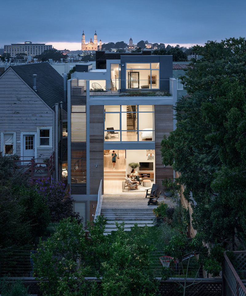 This house in San Francisco, California, designed by Feldman Architecture for a couple with three children.