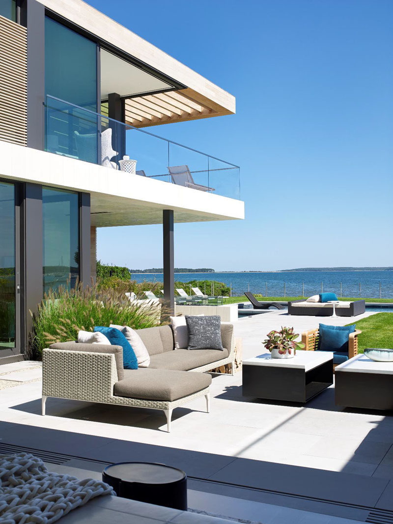 Outdoor living is a priority at this home in New York.