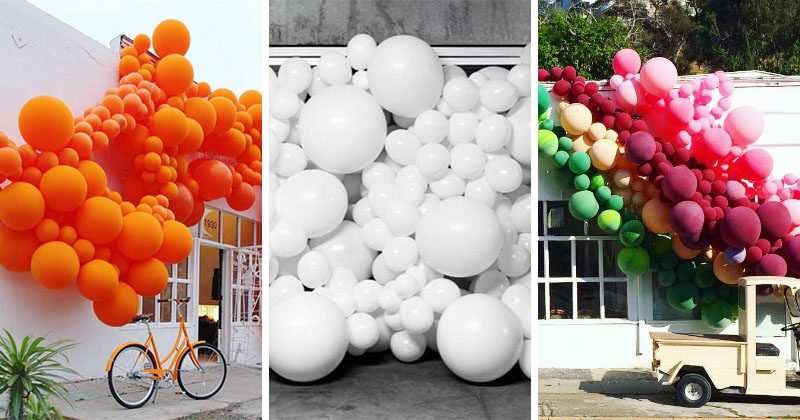Bright, fun and colorful balloon art installations by GERONIMO