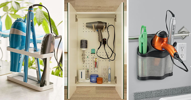 7 Bathroom Storage Ideas For Hair Tools
