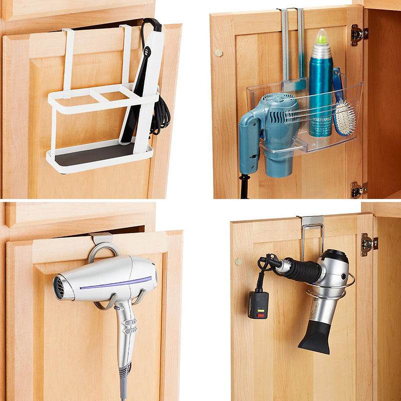 7 Bathroom Storage Ideas For Hair Tools // Tucked into the Cabinet