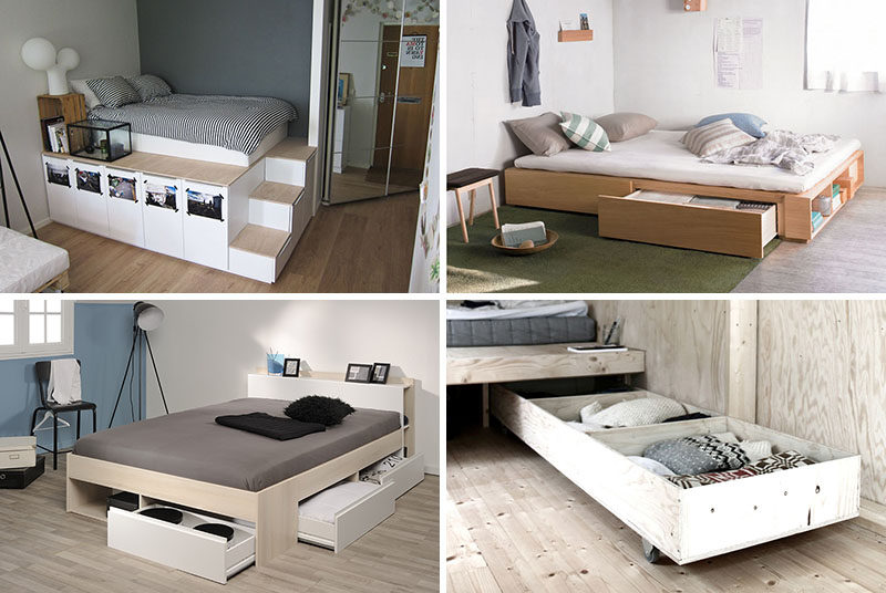 9 ideas for under the bed storage contemporist Under bed book storage