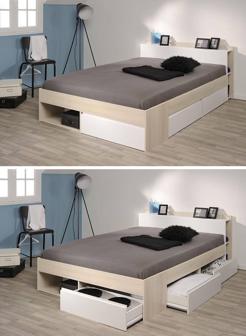 9 Ideas For Under The Bed Storage // This Bed By Parisot Has