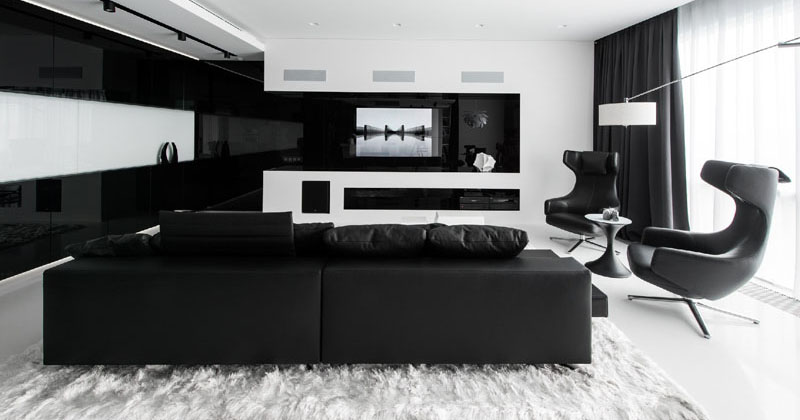 Enjoyable This Apartment Has An Almost Entirely Black And White Interior Download Free Architecture Designs Scobabritishbridgeorg