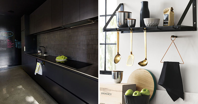All Black Kitchen 11 Ways To Introduce Black Into Your Kitchen  Contemporist