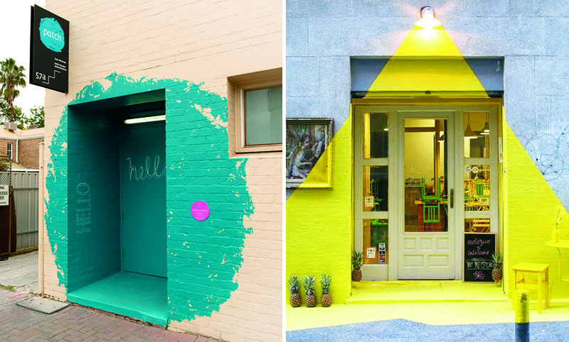Use Bright Colors To Highlight An Entrance And Make A Statement