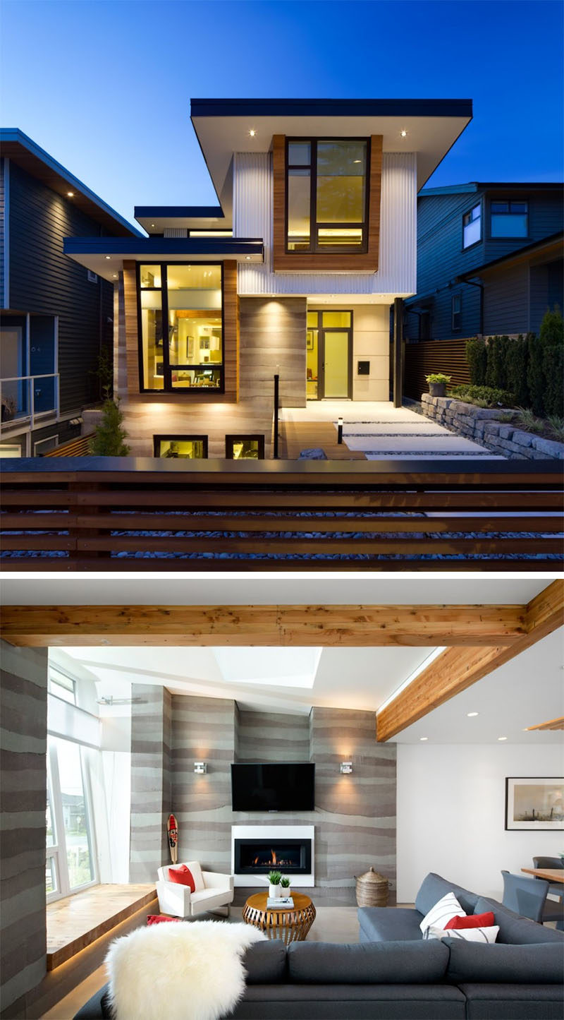 Celebrate Canada Day By Looking At These 10 Incredible Houses In Canada // Midori Uchi, one of Canada's greenest homes that produces more energy than it consumes. Located in Vancouver, British Columbia, and completed by Naikoon Contracting Ltd. together with architect studio Kerschbaumer Design.