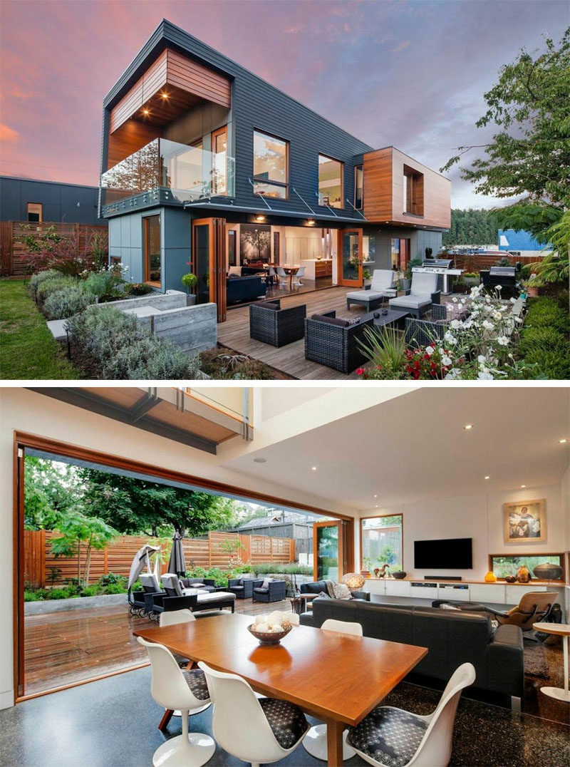 Celebrate Canada Day By Looking At These 10 Incredible Houses In Canada // The Double High House in Nanaimo, British Columbia, designed by Checkwitch Poiron Architects.